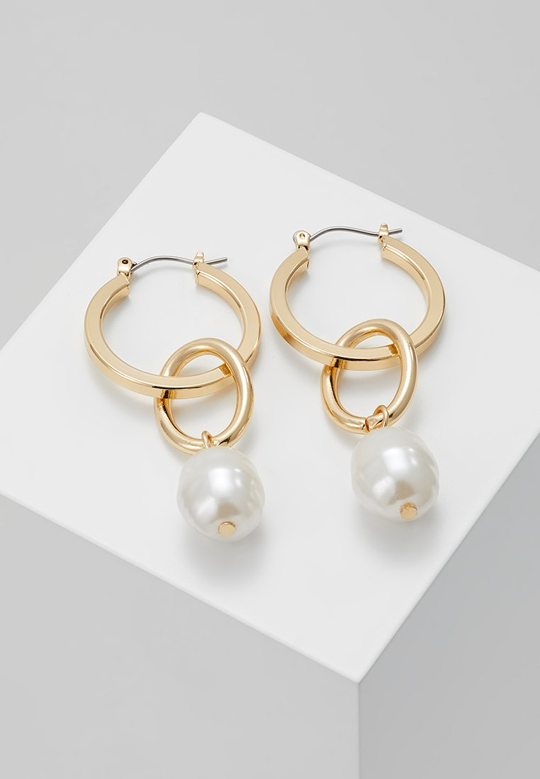 Topshop - LINK DROP EARRING - Earrings - gold-coloured