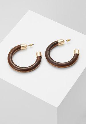 HOOPS - Boucles d'oreilles - brown