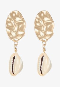 Topshop - HAMMERED DISC AND SHELL DROP - Boucles d'oreilles - gold-coloured - 3