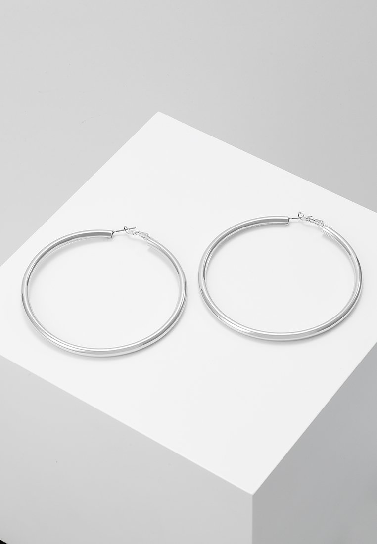 Topshop - LARGE HOOP - Øreringe - silver-coloured