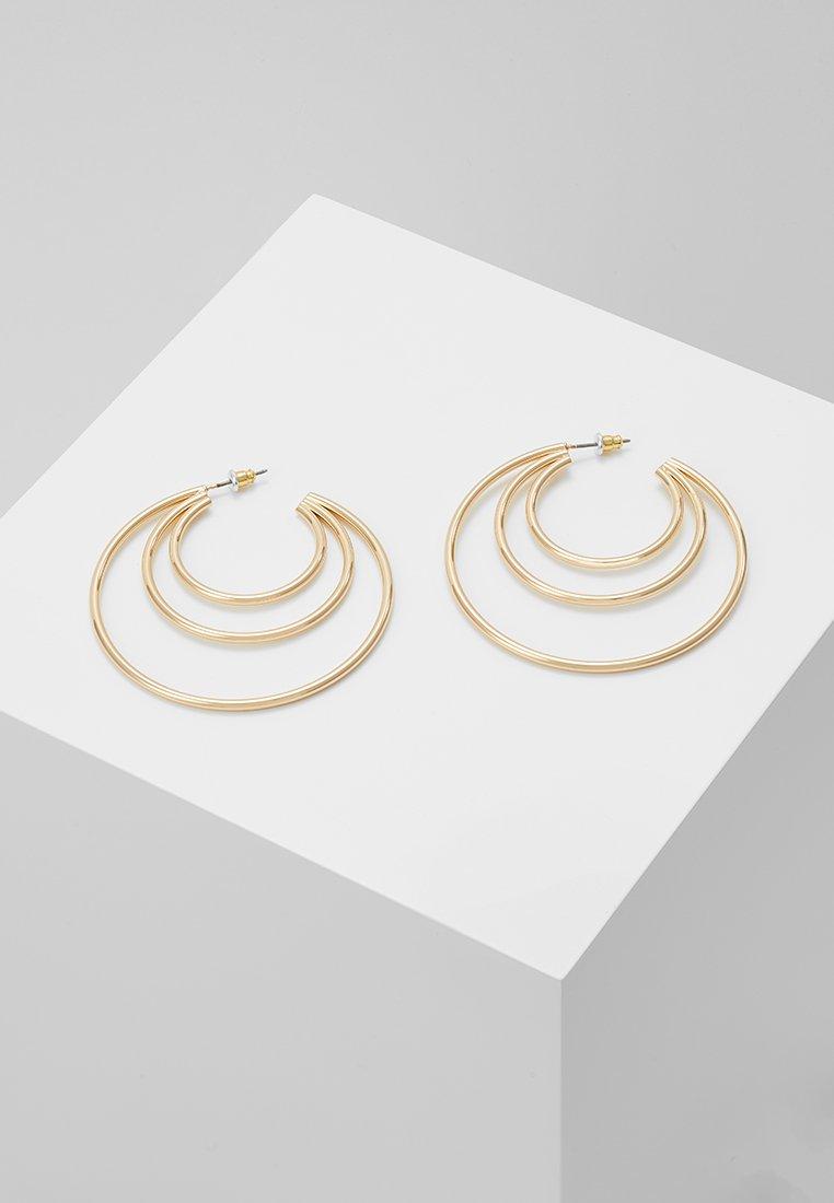 Topshop - ROW SPLIT HOOP - Náušnice - gold-coloured