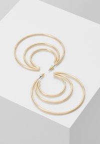Topshop - ROW SPLIT HOOP - Náušnice - gold-coloured - 2