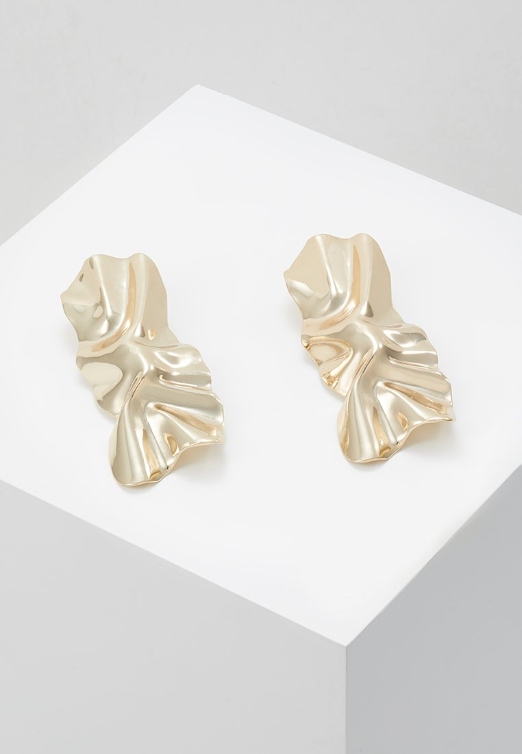 Topshop - CRUSHED - Earrings - gold-coloured