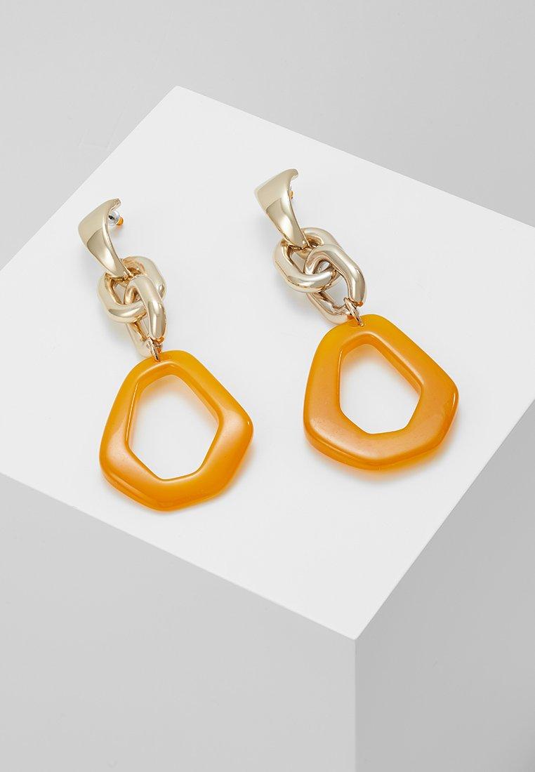 Topshop - LINK DROP EARRINGS - Ohrringe - orange