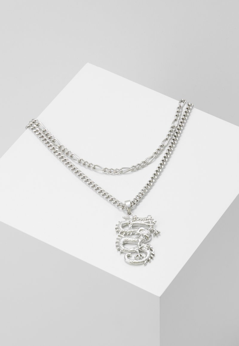 Topshop - DRAGON MULTIROW 2 PACK - Necklace - silver-coloured