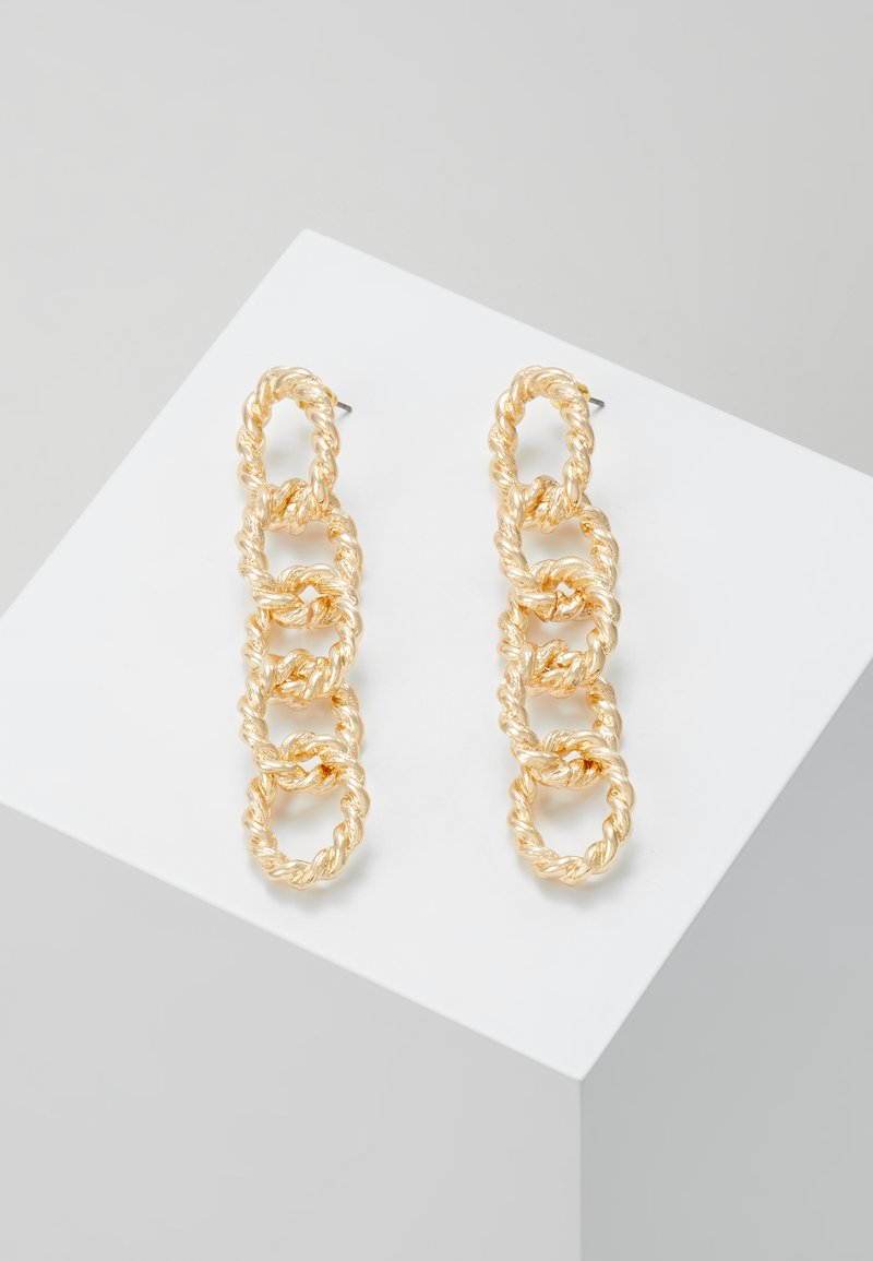 Topshop - ROPE LINK DROP - Boucles d'oreilles - gold-coloured