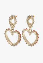 HEART DROP EARRING - Orecchini - gold-coloured
