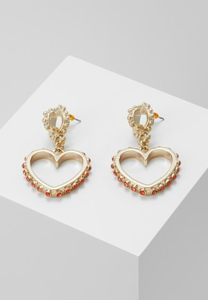 HEART DROP EARRING - Oorbellen - gold-coloured