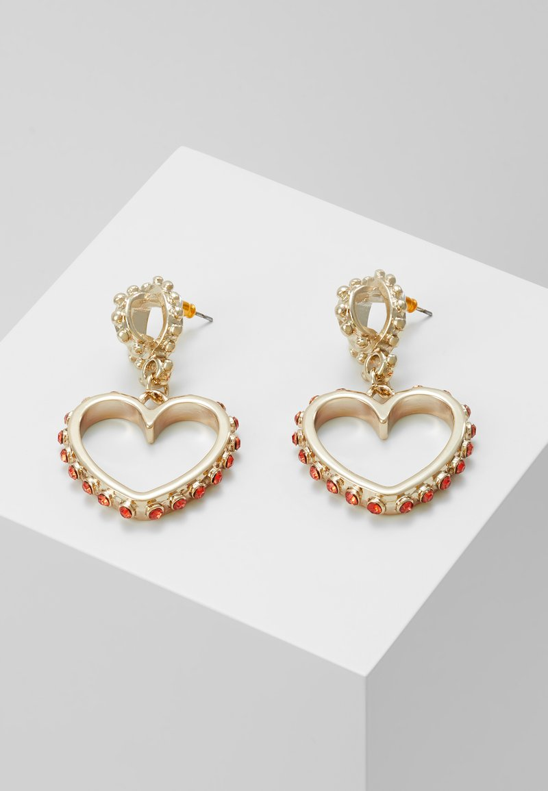 Topshop - HEART DROP EARRING - Pendientes - gold-coloured