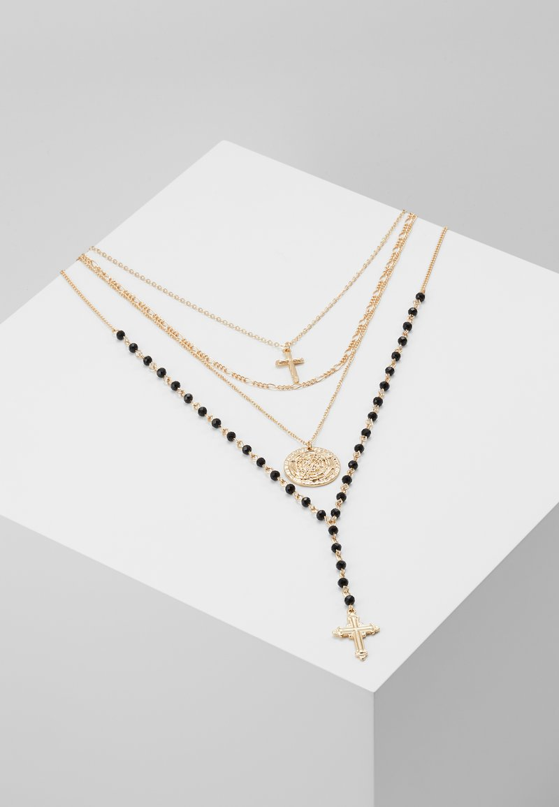 Topshop - ROSARY MULTIROW 2 PACK - Halsband - gold-coloured