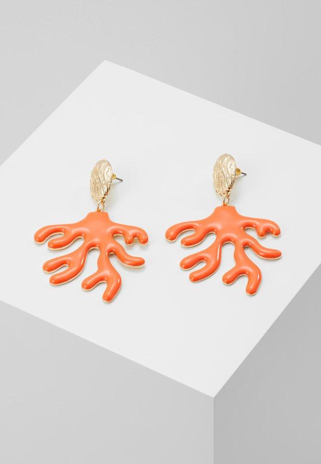 CORAL DROP - Oorbellen - orange/gold-coloured