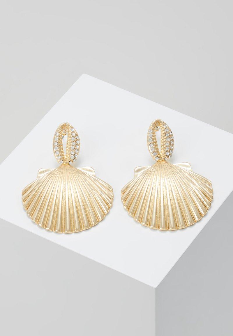 Topshop - PAVE DROP - Boucles d'oreilles - gold-coloured