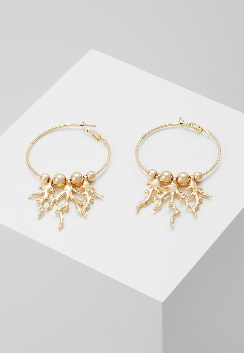 Topshop - CAST CORAL HOOP - Earrings - gold-coloured