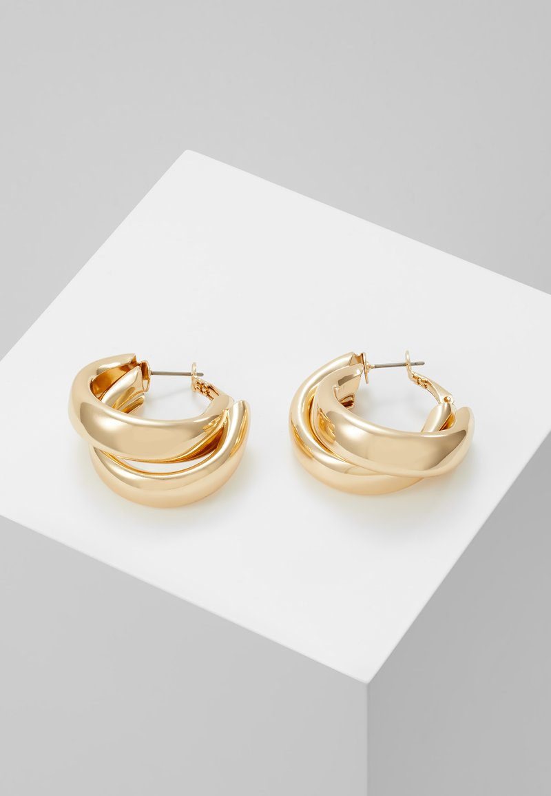 Topshop - CHUNK LAYER HOOP - Pendientes - gold-coloured