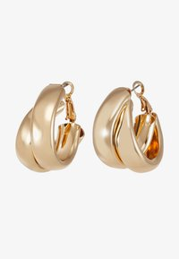 Topshop - CHUNK LAYER HOOP - Pendientes - gold-coloured - 3
