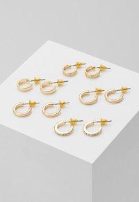 Topshop - MINI HOOP 5 PACK - Earrings - gold-coloured - 0