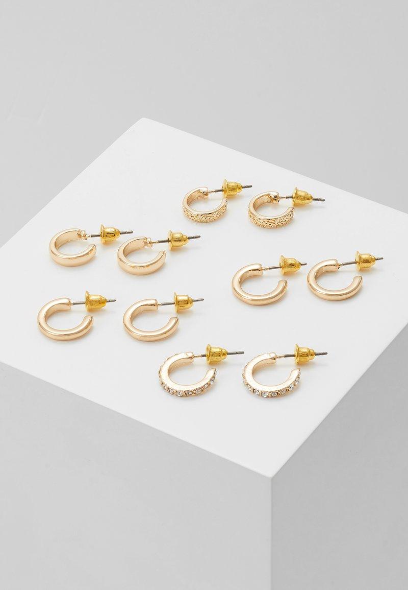 Topshop - MINI HOOP 5 PACK - Earrings - gold-coloured