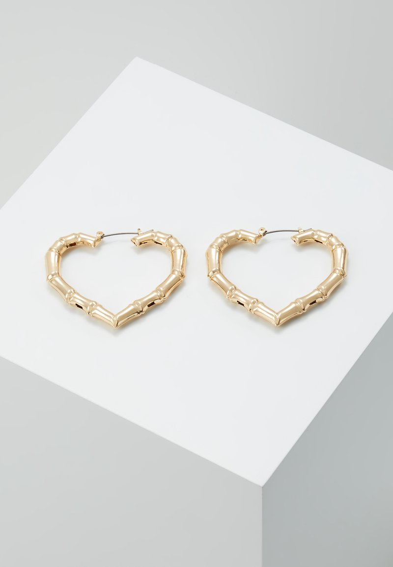 Topshop - BAMBOO HEART HOOP - Pendientes - gold-coloured