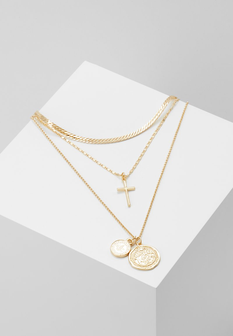Topshop - COIN CROSS - Necklace - gold-coloured
