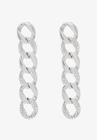 Topshop - PAVE LINKED EARRING - Náušnice - silver-coloured - 3