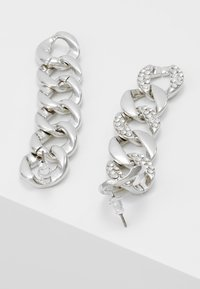 Topshop - PAVE LINKED EARRING - Náušnice - silver-coloured - 2