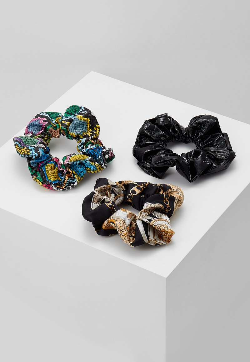Topshop - SNAKE SCRUNCHIE 3 PACK - Hair styling accessory - multicolor