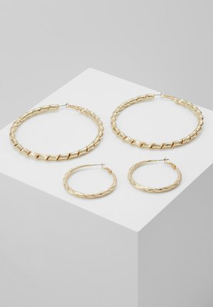 ENGRAVED URBAN HOOP 2 PACK - Øreringe - gold-coloured