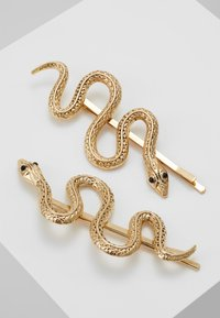 Topshop - SNAKE SLIDE 2 PACK - Hårstyling-accessories - gold-coloured