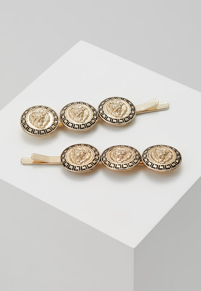 Topshop - COIN HAIR SLIDE 2 PACK - Hair Styling Accessory - gold-coloured