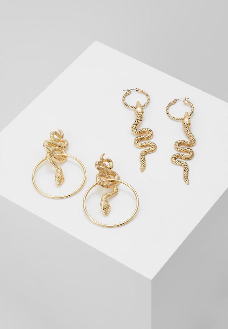Topshop - SNAKE DROP HOOP - Boucles d'oreilles - gold-coloured