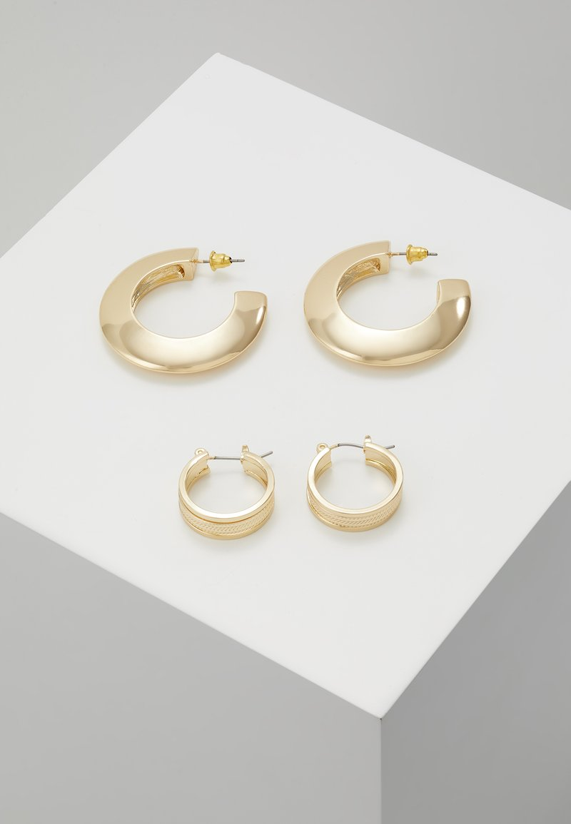 Topshop - SHARP EDGE THICK HOOPS 2 SET - Ohrringe - gold-coloured