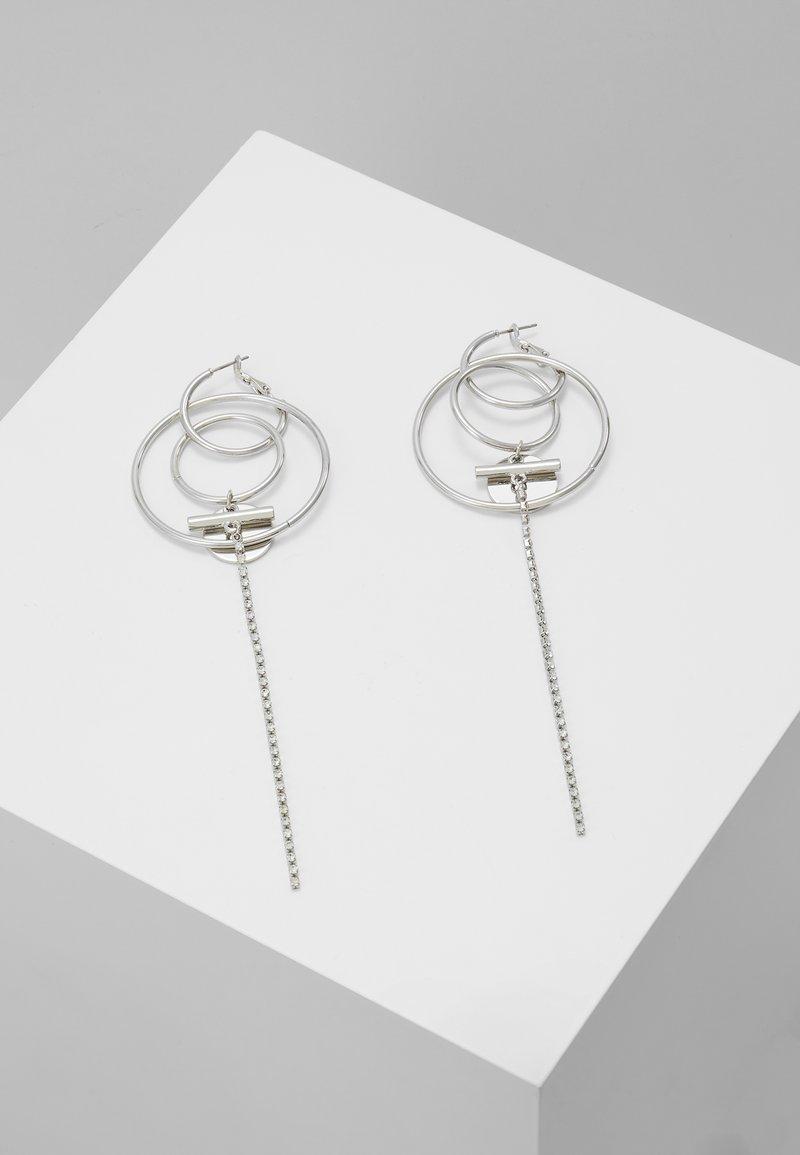 Topshop - HOOP DROP - Boucles d'oreilles - silver-coloured
