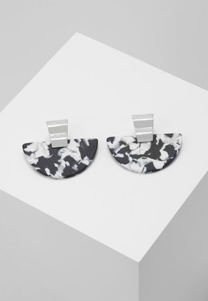 SEMI DROP EARRING - Örhänge - black/white
