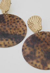 Topshop - LEOPARD DISC EARRING - Oorbellen - brown - 4