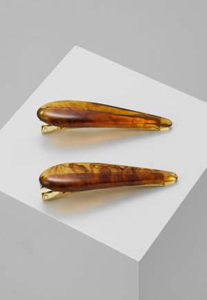 AMBER SLIDE 2 PACK - Hair styling accessory - brown