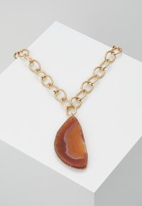 Topshop - STATEMENT PENDANT - Naszyjnik - orange - 0