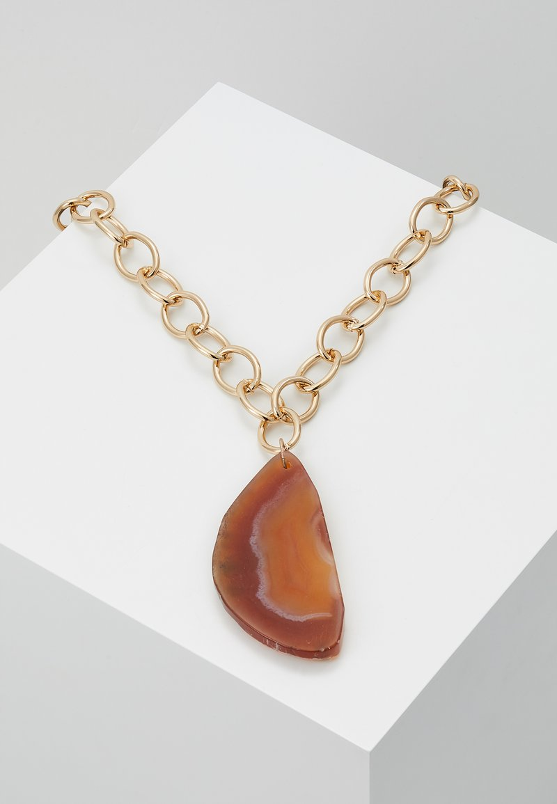Topshop - STATEMENT PENDANT - Naszyjnik - orange