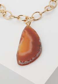 Topshop - STATEMENT PENDANT - Naszyjnik - orange - 4