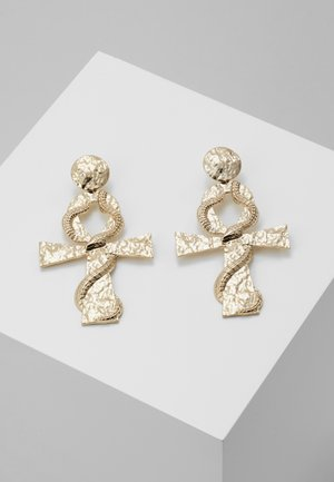 SNAKE ANKH DROP - Boucles d'oreilles - gold-coloured
