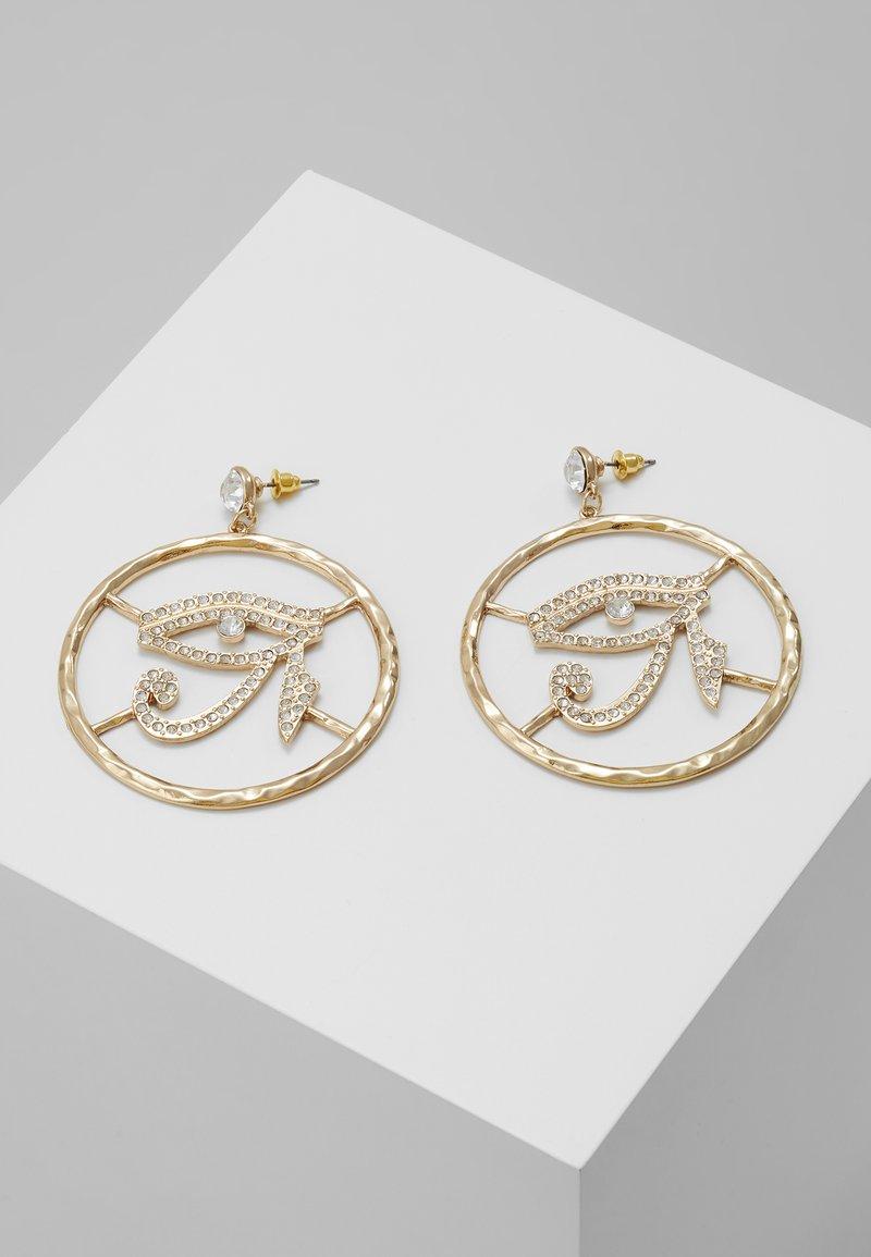 Topshop - EYE DROP HOOP - Boucles d'oreilles - gold-coloured