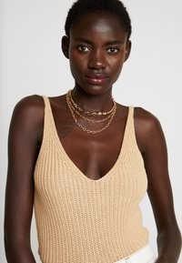 Topshop - 3 CHAIN CHOKER - Halskette - gold-coloured - 1