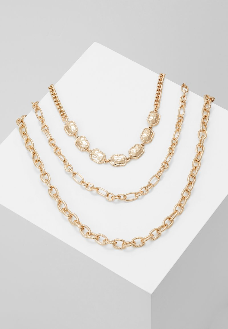Topshop - 3 CHAIN CHOKER - Naszyjnik - gold-coloured