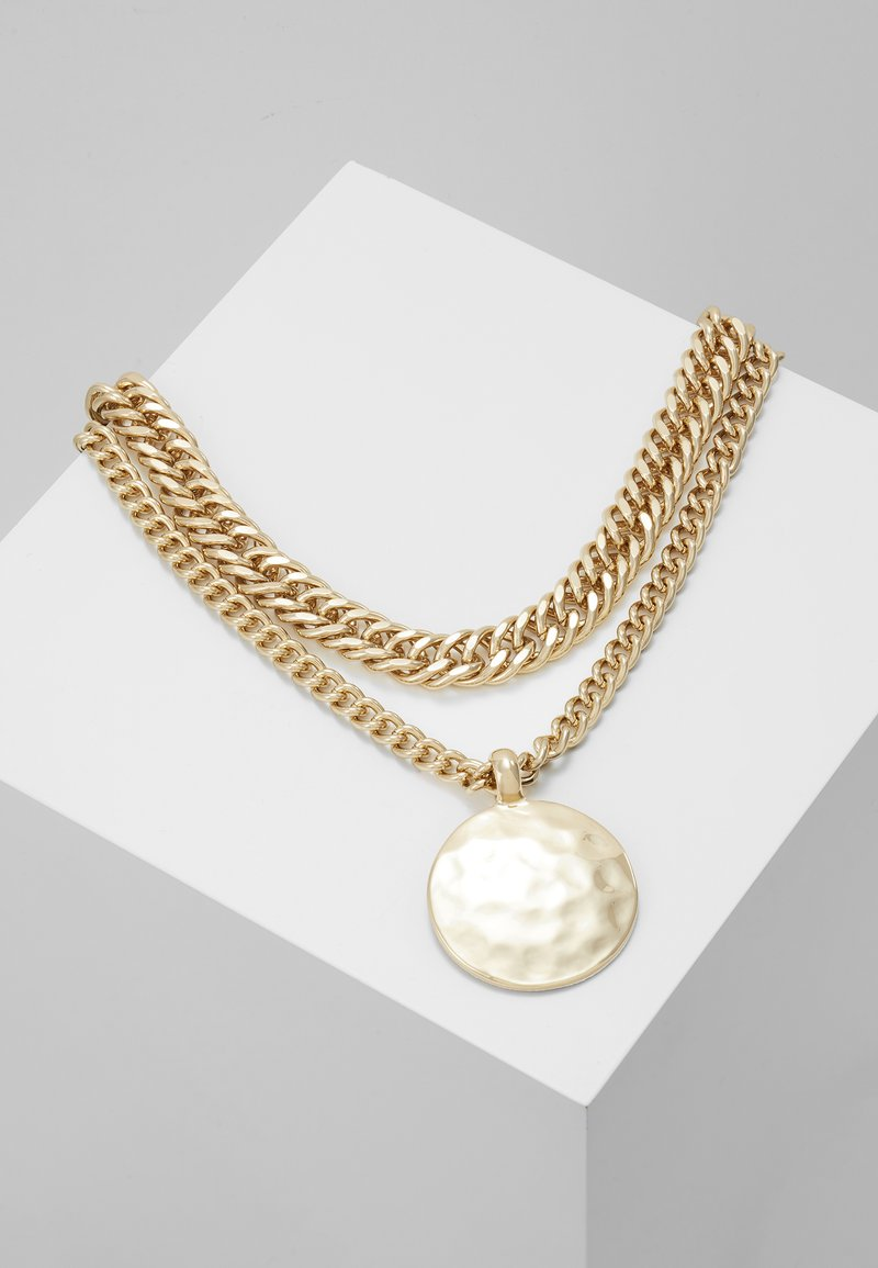 Topshop - SHELL INLY DISC 2 PACK - Halskette - gold-coloured