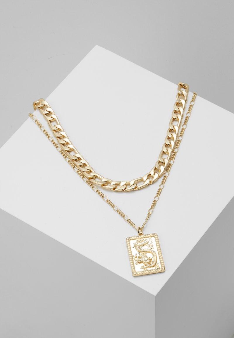 Topshop - FINE TAG MULTIROW - Collar - gold-coloured