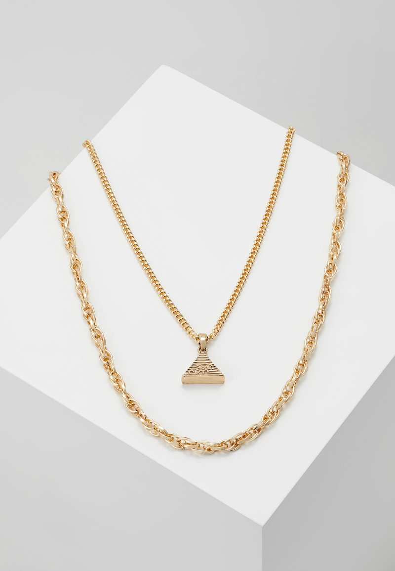 Topshop - PYRAMID MULTIROW - Necklace - gold-coloured