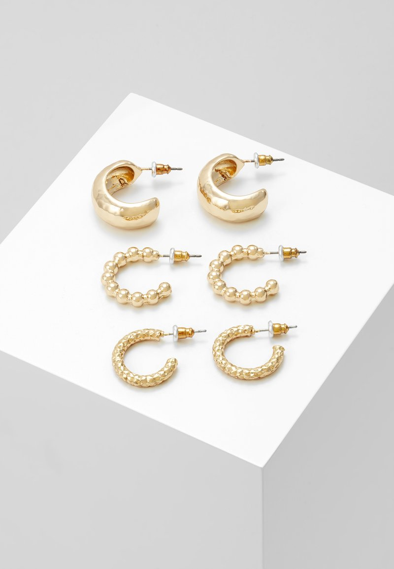 Topshop - CHUNKY 3 PACK - Boucles d'oreilles - gold-coloured