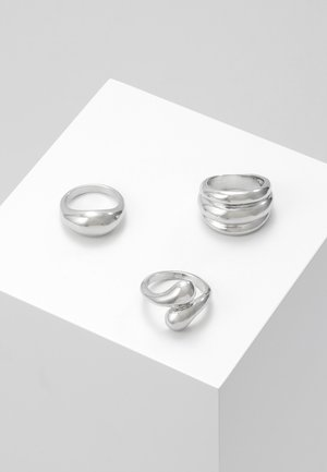 ORGANIC CHUNKY 3 PACK - Ringar - silver-coloured