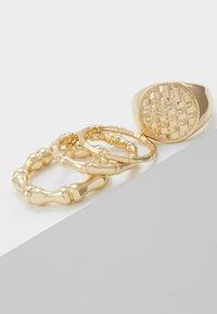 Topshop - WAFFLE SIGNET SET - Prsten - gold-coloured - 3