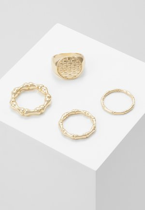 WAFFLE SIGNET SET - Anello - gold-coloured