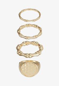 Topshop - WAFFLE SIGNET SET - Prsten - gold-coloured - 2